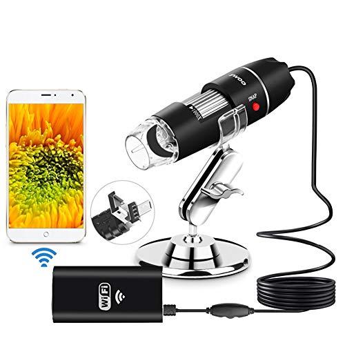 TYXS Microscopio WiFi 1000 Veces Alta definición Digital Biología electrónica Estudiante USB Android iOS Microscopio de teléfono móvil