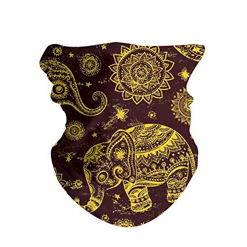 HAOZI - Diademas para el aire libre, 2 unidades, multifuncional, para deportes, bufanda mágica, banda para la cabeza, resistencia a los rayos UV, atlética, para hombres y mujeres, color Bohemia étnica india, tamaño 50 CM x 25 CM