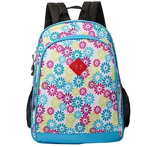 JinBeryl Kids Backpack for Girls Children School Bag for Preschool or Kindergarten, with Side Pockets (Blue)