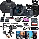 Canon EOS 77D DSLR Camera with 18-55mm Lens + Tamron 70-300mm Zoom Lens + 5 Photo/Video Editing Software Package & Accessory Kit