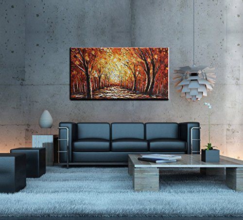 baccow Brown 3D Oil Paintings 2448, Acrylic Hand Painted Landscape Contemporary Wall Art Home Decor Gifts