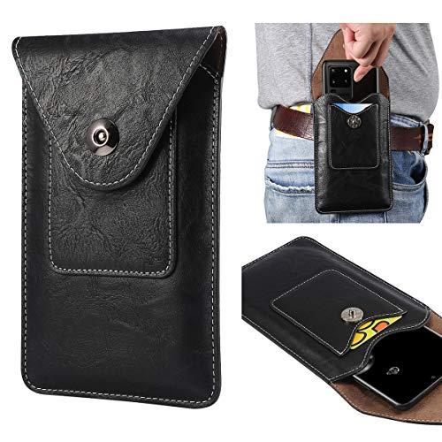 Para Samsung Galaxy Note10/s21/s20/s10/s10e/S9/S8/S7/S6/S5 Funda de cuero para teléfono celular, bolsa de cintura universal para hombre