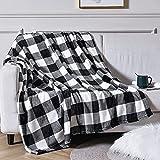 Vessia Large Flannel Fleece Plush Throw Blanket - 300GSM Plaid Pattern Blanket - Super Soft Cozy Lightweight Microfiber Blanket(50x70 Inches)