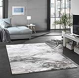 onloom Wohnzimmerteppich Craft, Stein-Optik Teppich mit 3D Effekt fürs Wohnzimmer oder Flur, Farbe:Marmor Grau, Größe:80 x 150 cm