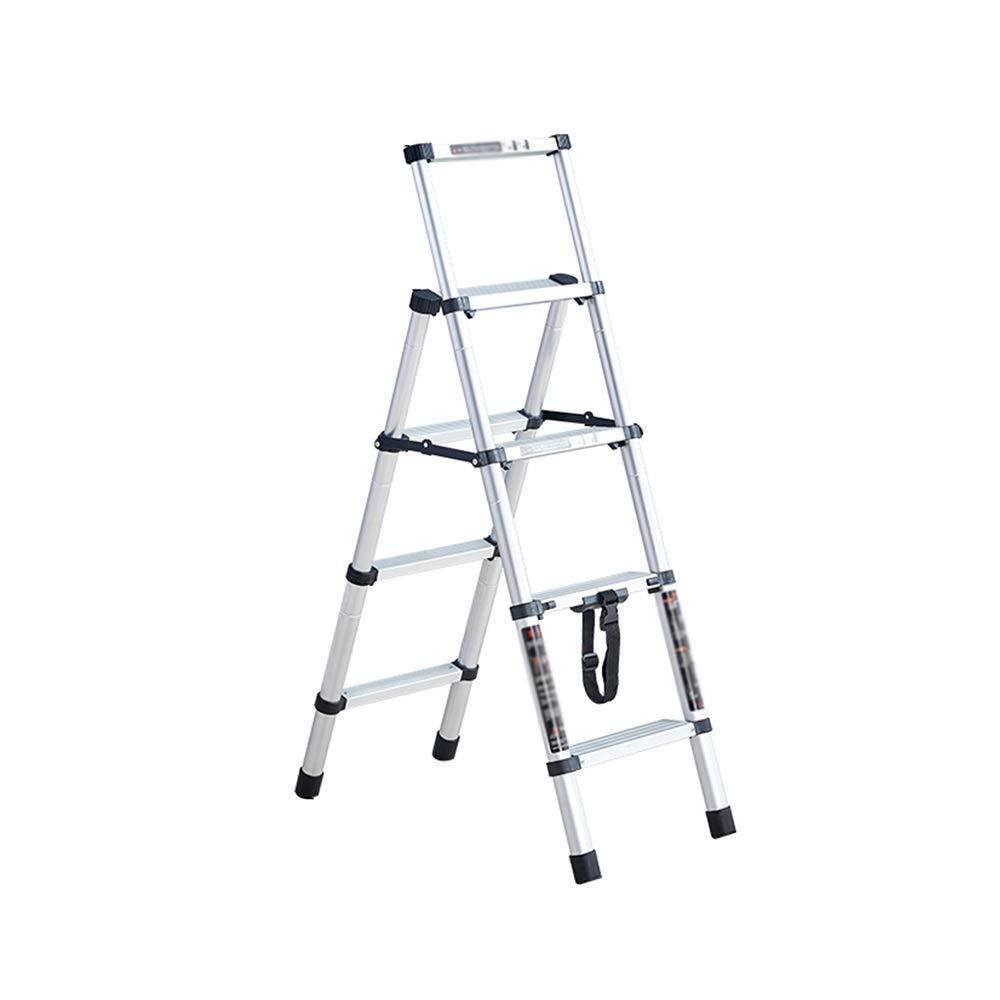 AA-SS Escaleras de Mano Escalera telescópica, extensión de retracción de un botón Escaleras de Mano Escaleras de usos múltiples Escalera Plegable para el hogar Diario o Ingeniería: Amazon.es: Hogar