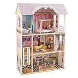 KidKraft 65869 Kaylee Puppenhaus aus Holz mit Zubehör für 30cm große Puppen mit 10 Accessoires...