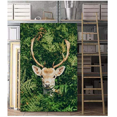 Zhaoyangeng Kunst van de Natuur Herten Muur Kunst Canvas Schilderijen Poster- 50X75Cm/Unframed