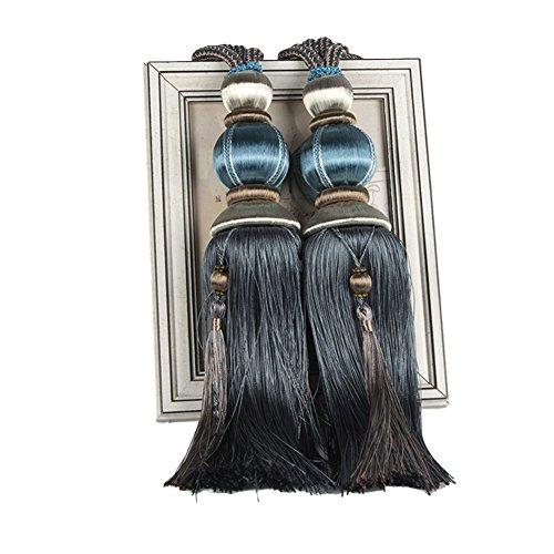 Laternen-Quaste, Raffhalter, Kugel mit Seil, dekorativ, 1 Paar dunkelblau