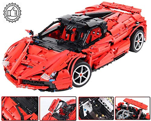 GAO Kinder Bausteine 2 4G Fernbedienung Baustein Ferrari MOC Puzzle Montage Baustein Modell Öffnen Oder Schließen Der Möwenflügeltür Angepasst An Kinder über 14 (3260 Teile)