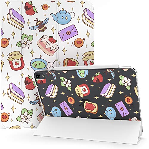 Lex Altern Case for Apple iPad Pro 12.9 2020 11 Air 3 2 10.2 8th Gen 2019 2018 10.5 inch Mini 5 4 9.7 Magnetic Strawberry Smart Cover Clear Cute Girly Bee Kawaii Stars Books Auto Wake Sleep mch032