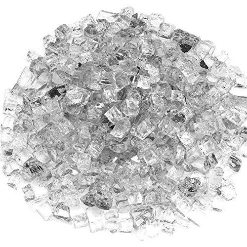 Ardorman Feuerglas,1/4 '' 1/2 '' Spiegelbeschichtete Gehärtete Glaspartikel Ofenglaspartikel,geeignet Für Kamine,Feuerstellen,dunkelblau/transparent/braun/schwarz