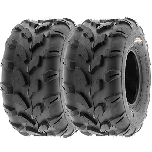 SunF 18x9.5-8 18x9.5x8 ATV UTV Tires 6 PR Tubeless A003 [Set of 2]