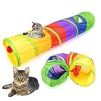 ペットのおもち 色折りたたみ玩具猫トンネルインタラクティブ猫のおもちゃチューブ折りたたみ屋外キティ運動隠しペットトンネル玩具用品 ペット用品
