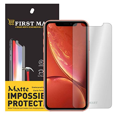 FIRST MART Flexiable Hammer Proof Impossible Film Screen Protector Anti-Fingerprint Scratch Shock Resistant Matte [Not aTempered Glass] Screen Guard for Apple iPhone XR(Matte)