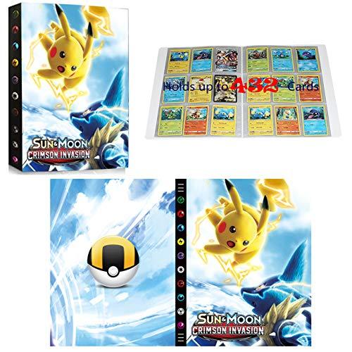 Classeur compatible avec cartes Pokemon, Album Compatible Avec Cartes Pokemon GX EX MEGA, Porte Album de cartes à collectionner, Peut contenir 432 cartes (SD PIKACHU)
