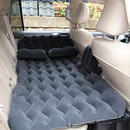 Zixin Auto-Reisebett, Auto-Luft-aufblasbare Reise Matratze Bett Universell for Back Seat Multifunktionales Sofa-Kissen im Freien Isomatte Kissen (Color : Blue)