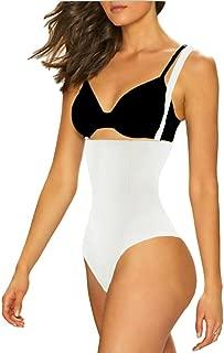 102A Thong Bodysuit - Women Seamless Waist Firm Control Shapewear Faja Open Bust Bodysuit & Panty Body Shaper