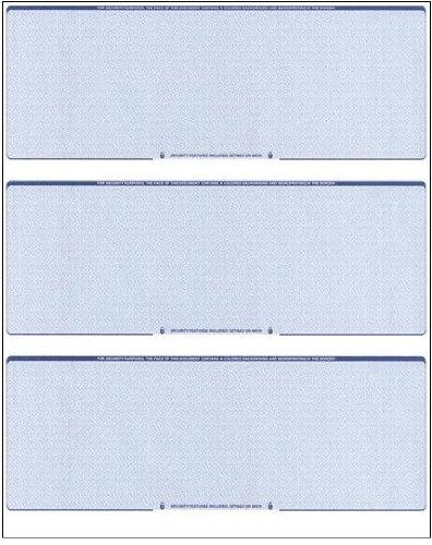 Business Voucher Checks Stock - Computer Laser Checks - 3 Checks Per Page, 100 Sheets/300 Checks, Blue Diamond