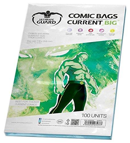 Protege y almacena gruesos libros de cómic de hasta 178x 268mm. Extratransparencia. 100% segura para archivar.