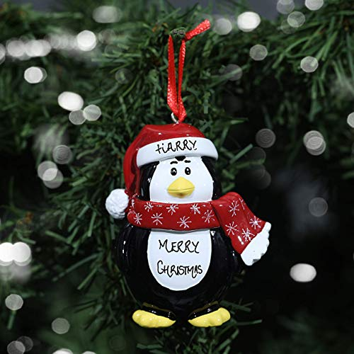 Personalised Hand Crafted Custom Penguin Character Christmas Tree Decorations Xmas Bauble Ornaments