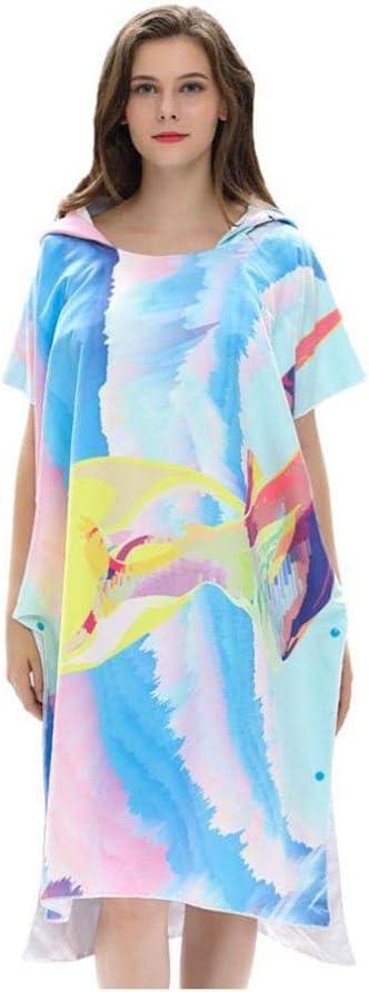 2021 Seasonal Wrap Introduction new Hooded Beach Towel Women Adult Changing Bathrobe Bath Cape