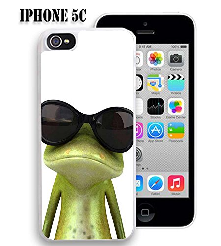 Case for iphone Viwell iPhone 5C Case 2015 Personality Abstract Cool Frog with sunglasses