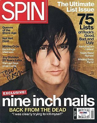 TRENT REZNOR SIGNED MAY 2005 SPIN MAGAZINE PSA/DNA AUTHENTICATION T50752
