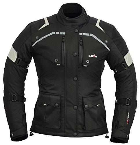 LOVO Chaqueta 3/4 para moto (Mujer) (3XL)