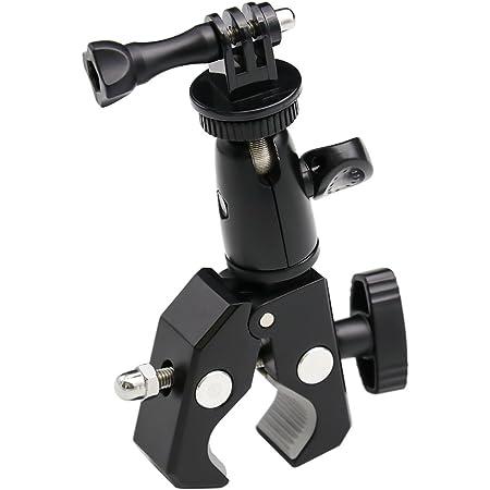 EXSHOW カメラホルダー 自転車・バイク・オートバイマウント 1/4ネジ 360度回転 三脚式マウント デジタルカメラ/GoPro Hero/YI 4K/Canon/Garmin/Nikon/SONY/CASIO/Kodakに対応
