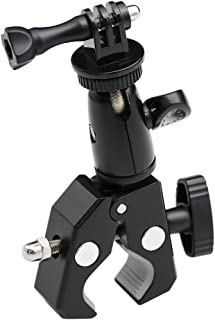 EXSHOW Camera Motorcycle Mount for Gopro, 360 Rotation Metal Action Camera Clamp Holder with 1/4-20 Thread for Moto Bike B...