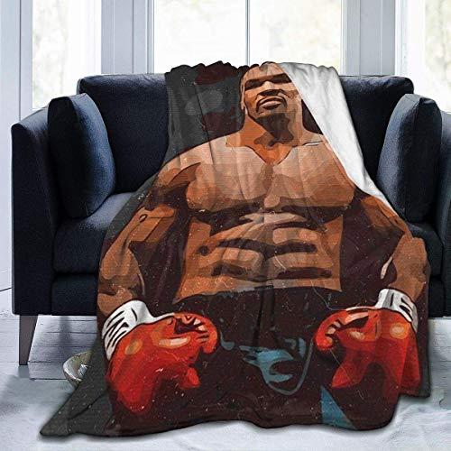 utong M Ike T yson Manta sofá sofá Suave Franela cálida para...