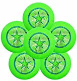 Discraft Ultra-Star 175g Ultimate Frisbee Sport Disc (6 Pack) Green