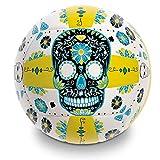 Mondo Toys - Pallone da Beach Volley SKULL - size 5 pallavolo - 270 g - Colore giallo / nero / blu  - 13665