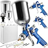 TecTake 3X Pistolas de Pintar pulverizadora Pintura HVLP 1,7 1,3 0,8 mm + maletín Conjunto