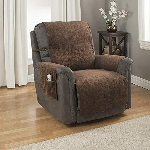 Link Shades GPD Heavy-Weight Microsuede Pebbles Furniture Protector and Slipcover with Anti-Slip