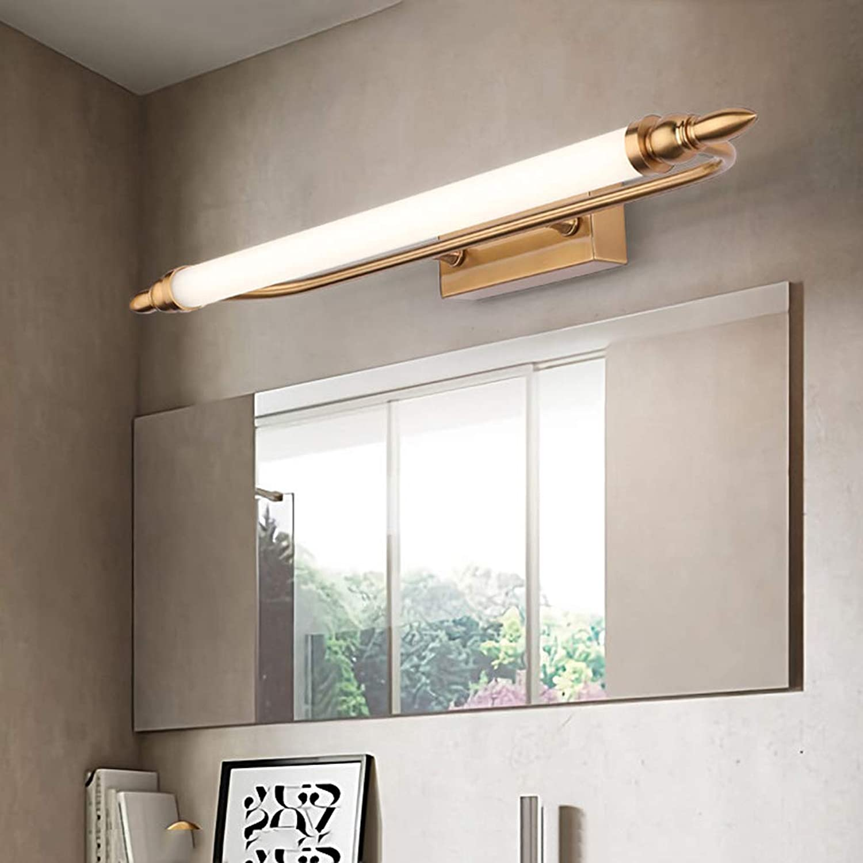 LED Spiegelleuchte Schminklicht Modern Spiegellampe Metall Spiegelbeleuchtung Badezimmer Spiegelschrank Schminktisch Spiegellicht Wandleuchte Bildlicht Neutralwei 4000K,65cm12W