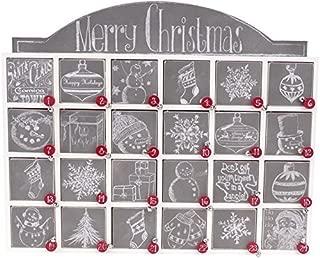 Primitives by Kathy Christmas Chalk Art Wood Countdown Box, 17.13x14.25x3.38, Chalkboard