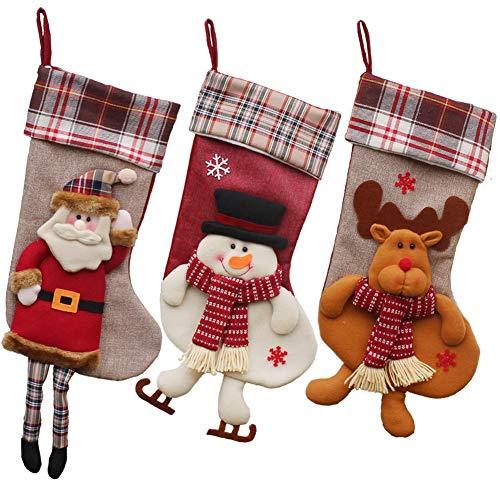 Hcxbb-11 9 stuks adventskalender - Kerstmis Mall raamdecoratie Levert kerstsokken hangen kerstsuikerzakken