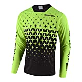 Troy Lee Designs Sprint Megaburst Off-Road BMX Maillot de ciclismo para hombre, color amarillo y negro