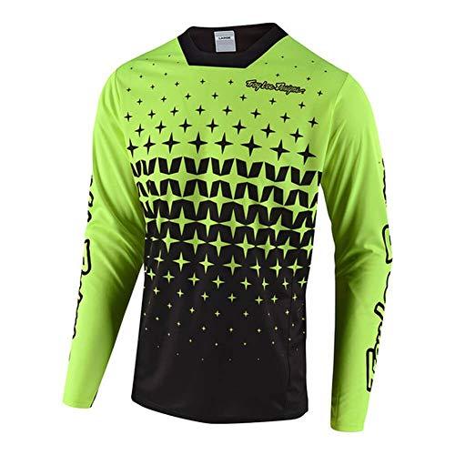 Troy Lee Designs Sprint - Camiseta para hombre Megaburst Flo amarillo/negro, S