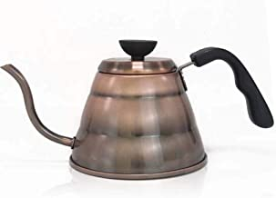Stove Kettle, Stainless Steel Kettle Gooseneck Thin-Mouth Kettle Hand-Made Coffee Pot Teapot (Color : Silver, Size : 1L)