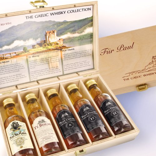 The Gaelic Whisky Collection - Geschenkbox mit individueller Gravur