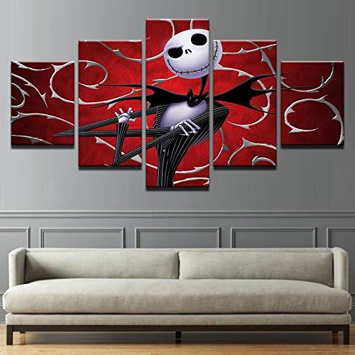 Aicedu afbeelding op canvas, decoratie van het huis, kunstenaars, lijst voor woonkamer, 5 panelen, modern stopcontact, vreemde wereld, HD-druk, landschap zonder lijst