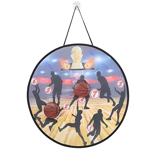 XINL Gioco di Lancio al Coperto, Gioco di Lancio per Bambini, Interazione 1Pcs Bandiere di destinazione 2Pcs Palla di Schiuma per Famiglie Backyard(Basketball 222-2A)