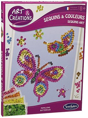 Sentosphere 02010 - Art and Creations- Mosaikbild Schmetterlinge, Bilder Basteln mit Pailletten