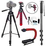 Action Tripod Kit for Nikon CoolPix P900, P900S, P610S, P600, P530, P520, P510, P500, P330, P310, P300, P100
