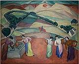 Diego Rivera am Brunnen von Toledo Bild Kunstdruck Poster