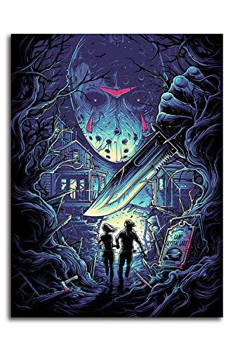 Poster decorativo da parete in ufficio con stampa di film horror Jason, 61 x 91 cm