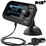 FirstE Auto DAB+ Radio Adapter, 2,3' LCD Tragbares Autoradio DAB mit FM Transmitter+ Bluetooth Freisprecheinrichtung MP3 Player, DAB Digital Radio Tuner mit Dual USB Kfz Ladegerät/TF...