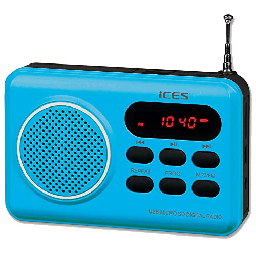 Oferta de ICES IMPR-112 Portátil Azul - Radio (Ión de Litio, Portátil, LED, FM, PLL, USB, Rojo)